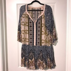 Free people boho swing dress